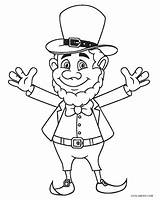 Leprechaun Coloring Pages Printable sketch template