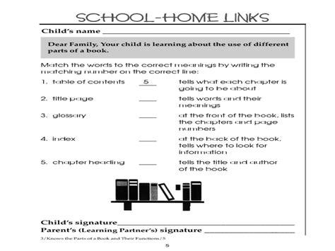 worksheets parts of a book worksheet kindergarten