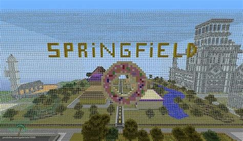 springfield  simpsons minecraft project