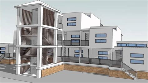 Design An Apartment Building With Sketchup. Part 2
