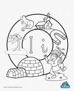 mandala de la letra i i buscar con dibujos vocabulario alphabet pre