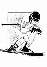 Skieen Coloring Skiing Kleurplaten Pages Fun Sports Kleurplaat Van Zo sketch template
