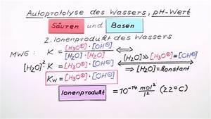 Pks Wert Berechnen : autoprotolyse des wassers ph wert chemie online lernen ~ Themetempest.com Abrechnung