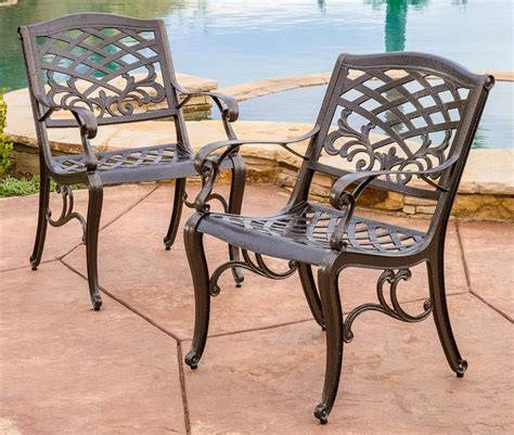patio dining chair in bronze finish set of 2 express
