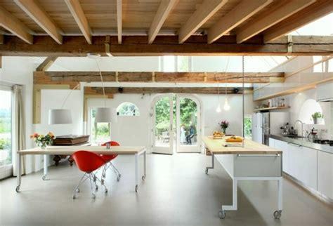 meuble cuisine avec ier int r le îlot à roulettes qui va pimenter le design de votre cuisine