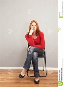 A bored woman waiting stock image. Image of chair, alone ...  Sitting