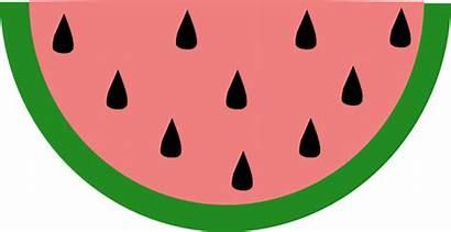 Watermelon Slice Clipart Clip Seed Cartoon Melon
