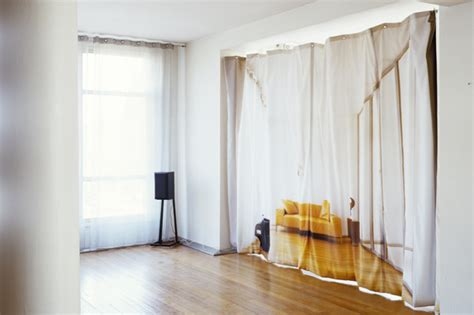 using curtain fabric on the walls wall decor source