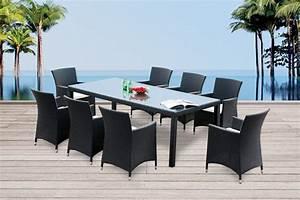 Gartenmöbel Set Runder Tisch : gartenmobiliar gartentische gartenst hle rattan tisch montreal 220cm schwarz ~ Bigdaddyawards.com Haus und Dekorationen