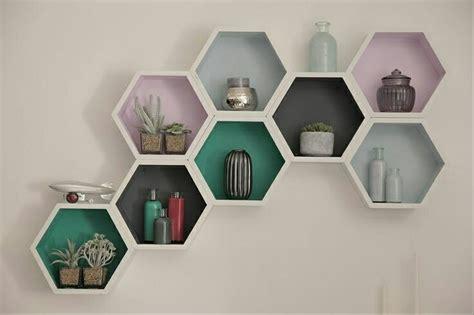Rak Dinding Hexagonal jual ambalan rumah lebah rak dinding di lapak java wood