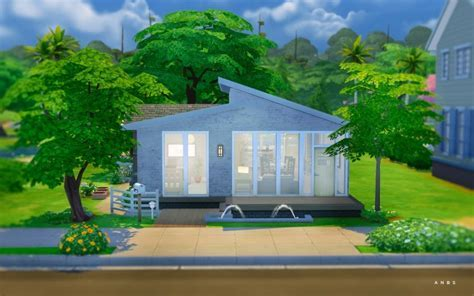 SIMPLE MODERN STARTER at Alachie & Brick Sims » Sims 4 Updates
