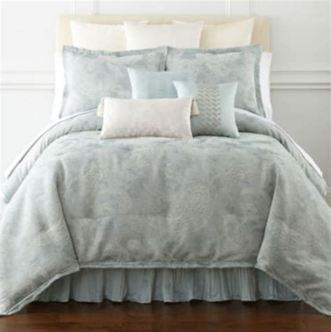 royal velvet 4 pc calking comforter set blue frost ebay
