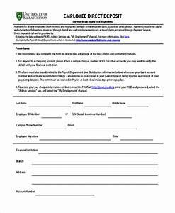 direct deposit employee form zoroblaszczakco With direct deposit forms for employees template