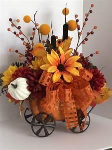 Fall, Pumpkin, Wagon, Floral, Arrangement