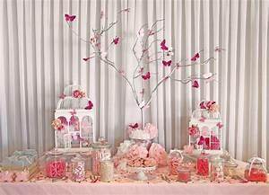 Decoration Pour Bapteme Fille : inspiration pour une d coration de bapt me et baby shower rose d corations de bapt me roses ~ Mglfilm.com Idées de Décoration