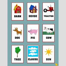 Flashcards For Toddlers To Teach Simple Words #flashcards #kids #farm  Flash Cards For Kids