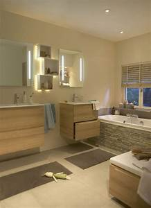 1000 idees a propos de salle de bain beige sur pinterest With carrelage adhesif salle de bain avec ampoule d ambiance led