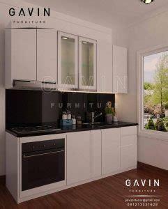 Lemari Dapur Minimalis Modern Dengan Minibar Untuk Klien