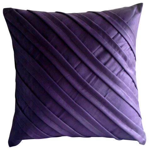 purple accent pillows the homecentric textured pintucks purple faux suede