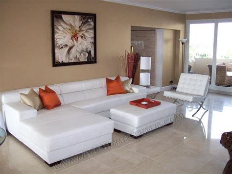 Brown Leather Sectional Living Room Ideas by White All White Living Room Set Living Room