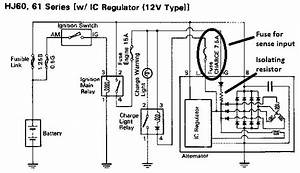 Toyota Hilux External Voltage Regulator Wiring