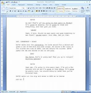 how to format your script youtube With microsoft word screenplay template