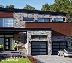 Maison moderne avec pierre couleur maison pinterest for Maison en pierre moderne