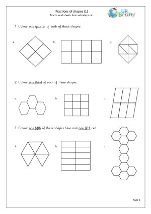 finding fractions  shapes urbrainy