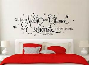 Gras An Die Wand Malen : wandtattoo zitat gib jeder nacht die chance w933 spr che zitate schlafzimmer ~ Markanthonyermac.com Haus und Dekorationen
