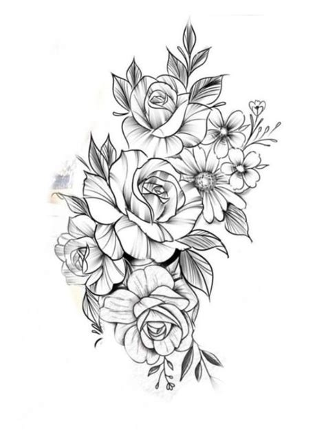42 Simple and Easy Flower Drawings for Beginners | Tattoos