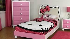 Chambre Hello Kitty : d coration chambre fille linge lit th me hello kitty 25 photos ~ Voncanada.com Idées de Décoration