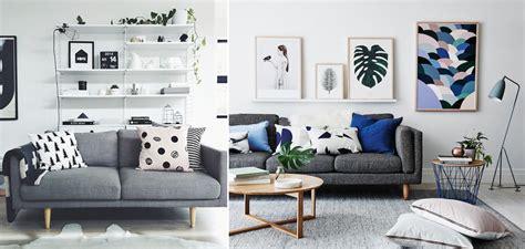 sala de estar sofá cinza meu casebre