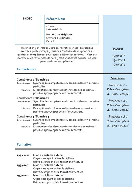 Exemple Cv by Exemple Cv Quebecois Pdf