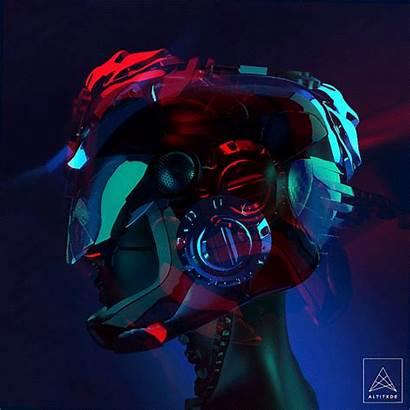 Hologram Glitch Cyberpunk Mercenary Dystopia 2077 Fragments