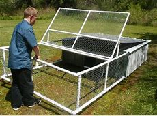 Build a chicken tractor from PVC DIY projects for everyone!