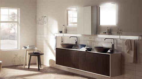 meuble salle de bains bois carrelage et d 233 co en 105 id 233 es