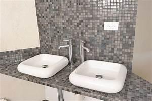 des vasques a poser dans la salle de bains bricolage With salle de bain design avec vasque a poser avec trop plein