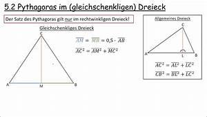 Pythagoras Berechnen : 5 2 pythagoras im gleichschenkligen dreieck youtube ~ Themetempest.com Abrechnung
