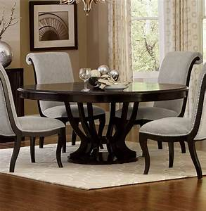 Homelegance, Savion, Round, Oval, Dining, Table, With, Leaf