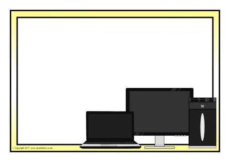Computer A4 Page Borders (SB2165) - SparkleBox
