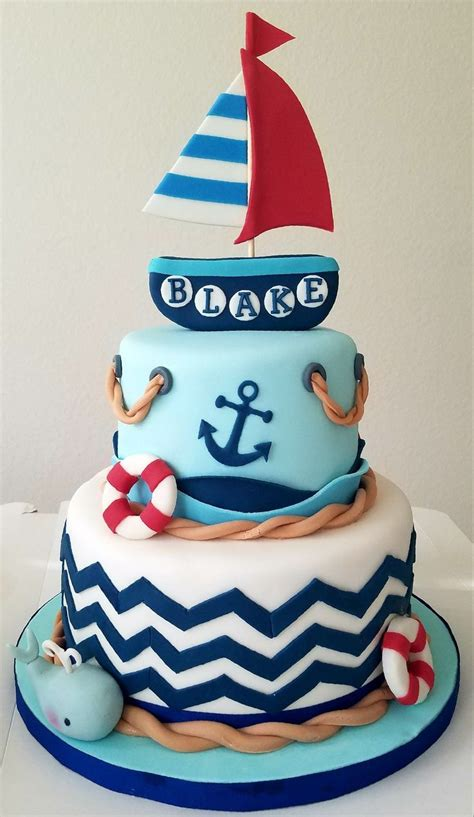 nautical cake ideas  pinterest sailor cake