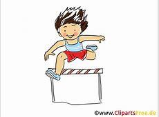 Hindernislauf, Huerdenrennen Bild, Sport Cliparts, Comic