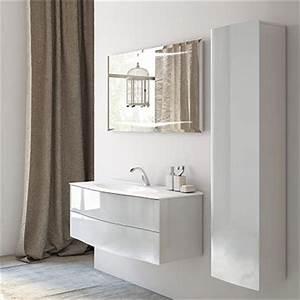 armoire salle de bain decotec With decotec meuble de salle de bain