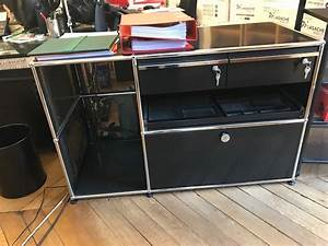 meuble bas usm noir occasion adopte un bureau With meuble usm occasion