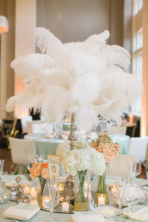Gatsby Glam Feather Centerpieces