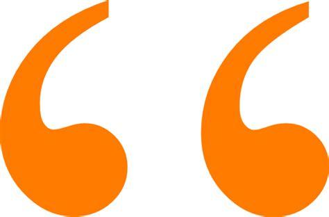Orange Quotation Marks Clip Art At Clker.com