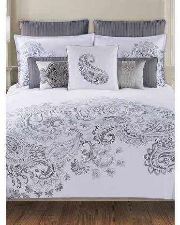 tj maxx comforter sets paisley bedding collection tahari home 300 thread count duvet set 16 99 59 99 tj maxx