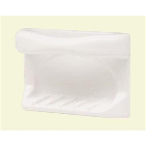 lenape 4 1 4 in x 6 1 4 in white ceramic soap dish and