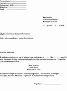 Modèle Changement D Adresse : exemple lettre changement adresse ~ Gottalentnigeria.com Avis de Voitures