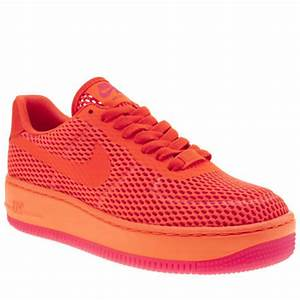 Womens Orange Nike Air Force 1 Low Upstep Br Trainers